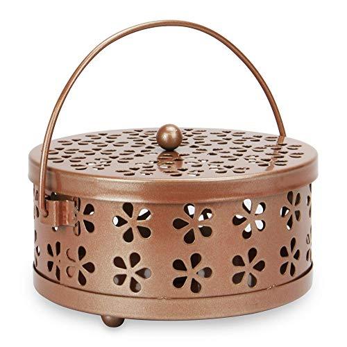 (Portable Metal Incense Holder | Mosquito Coil Holder | Insect Repellent | Incense Burner | Home Fragrance | M&W (Rose Gold))