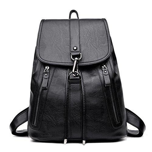 Mefly Frauen Freizeit Tasche Student Tasche Fashion All-Match Multifunktionale Weiche Tasche black