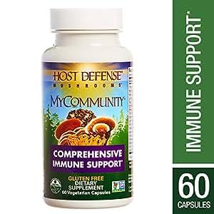 Host Defense - MyCommunity Capsules, Multi Mushroom Support for Immune Response, 60 Count (FFP)