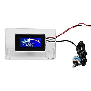 Richer-R Kit de Detector de Temperatura para Sistema de Refrigeración por Agua de PC Temperature Detector(Termómetro con Pantalla LCD/Marco/Sonda ...