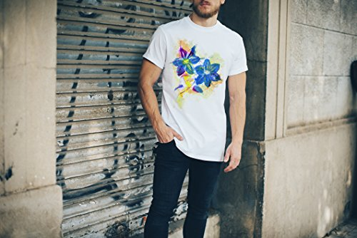 Blume V Herren T- Shirt , Stylisch aus Paul Sinus Aquarell Color