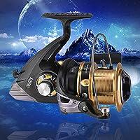 HYYQG Carp Carrete De Pesca 12+1bb MAX Drag 21KG Metal Spinning ...