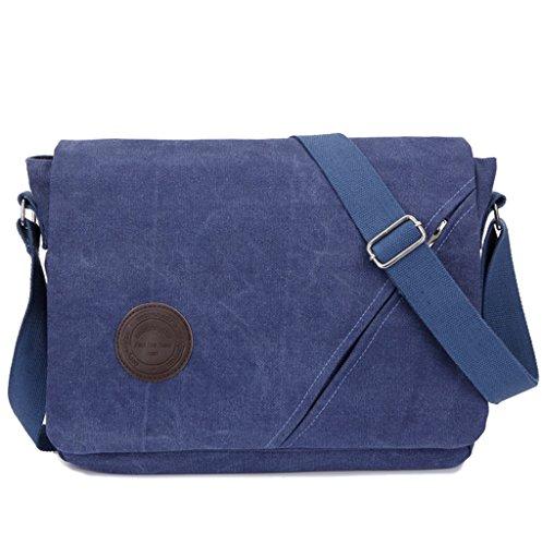 Traval Canvas Bag para hombro Negocios diario para Vintage hombre moderno azul hombre portátil Trabajo Messenger bolsa día caqui Crossbody Super de Bolsa de uso Escuela Zxq0HIw