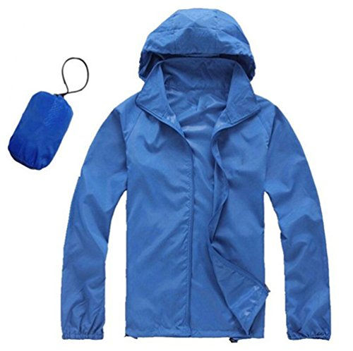 AV SUPPLY Men Women Windproof Rain Jacket Windproof Quick Dry Outdoor Cycling Running Sport Hoodie Coat