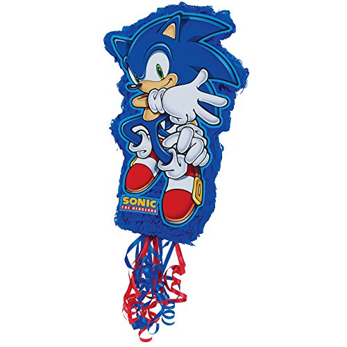 BirthdayExpress Sonic the Hedgehog Party Supplies - Pull-String Pinata