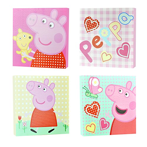 Peppa Pig Square Canvas Wall Art (4 -
