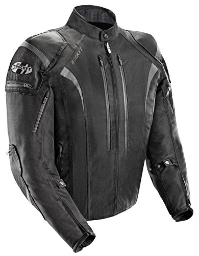 Joe Rocket Atomic Men's 5.0 Textile Motorcycle Jacket (Black, (Bike Motorcycle Jacket)