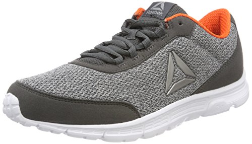 Reebok Speedlux 3.0, Chaussures de Running Compétition Homme, Gris/Gris/Orange/Blanc/Gris, EU Gris (Alloy/Stark Grey/Bright Lava/White/Pewter)