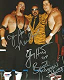 Jim Neidhart Jimmy & Bret Hart Foundation Signed 8x10 Photo COA WWE WWF - PSA/DNA Certified - Autographed Wrestling Photos