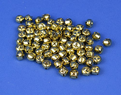 48 Gold 13mm Jingle Bells for Crafts | Craft Bells by Crafty Capers