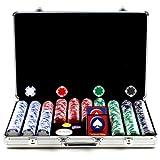 Trademark Poker 650 Hold'em Poker Chip Set with Executive Aluminum Case, 11.5gm