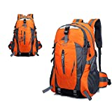 Batsomer Waterproof Outdoor Climbing Backpack Men Women Camping Hiking Athletic Travel Backpack Unisex Climbing Sport Bags Orange