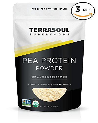 Terrasoul Superfoods Organic Pea Protein, 4.5 Pounds