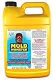 Mold Monster Kills Mold & Mildew On Contact. Post Flood & Storm Clean Up For Homes, Hotels, RV's, Boats- All Natural, Non Toxic, Environmentally Friendly - Commercial Strength 1 Gal Bottle
