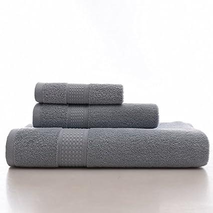 Superior lujo toalla de baño, kcasa playa Extra suave larga grapas algodón Manopla Kit,