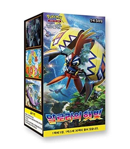 Pokemon Cards Sun   Moon  Guardians Rising  Booster Box  30 Pack    Korean Ver