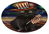 4th July Independence Day Firework Black Cat Oval Envelope Seals OVE65640 (20)