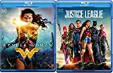 The League of heroes Movie 2 Pack Justice League Blu Ray & DC Wonder Woman Super Hero Double Feature Wonder Woman / Batman / Superman / The Flash / Cyborg / Aquaman
