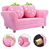 Costzon Kids Sofa Set Children Armrest Chair Lounge Couch w/2 Cushions (Pink)