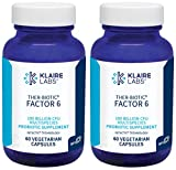Klaire Labs Ther-Biotic Factor 6 Probiotic - 100 Billion Ultra Strength CFU, The Original Hypoallergenic Probiotic for Men & Women, Dairy-Free Digestive Support (60 Capsules / 2 Pack)