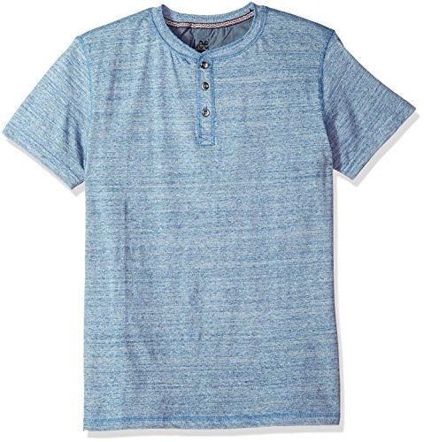 LEE Men's Short Sleeve Henley Tee, Limoges, X-Large by LEE