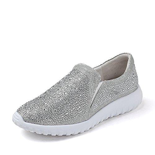 Verano zapatos confort de perforación/Zapatos de fondo plano de pie plata