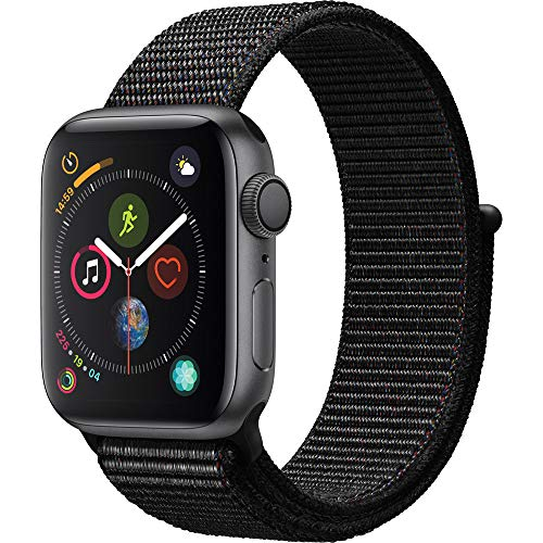 (Apple Watch Series 4 (GPS, 44mm) - Space Gray Aluminium Case with Black Sport Loop)