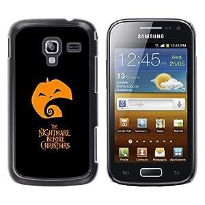 A-type Arte & diseño plástico duro Fundas Cover Cubre Hard Case Cover para Samsung Galaxy Ace 2 (Pesadilla antes de Navidad)