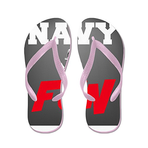 Cafepress Navy Kul - Flip Flops, Roliga Rem Sandaler, Strand Sandaler Rosa