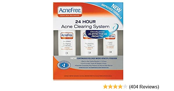 Amazon Com Acnefree 24 Hour Acne Clearing System Kit Beauty