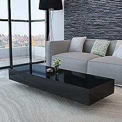 Living Room Modern Elegant MDF High Gloss Coffee Table Side/End/Sofa Table, Living Room Home Furniture 45.3″ x 21.7″ x 12.2″ modern coffee tables