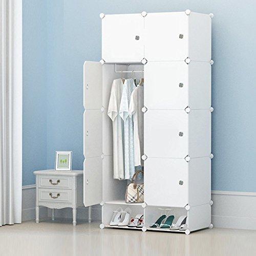 Benlet Portable Wardrobe Closet for Bedroom Clothes Armoire Dresser Cube, DIY Storage Organizer with Doors, Ideal Storage Organizer Cube for Clothes, Books, Toys, Towels (2 Column 5 Layer)