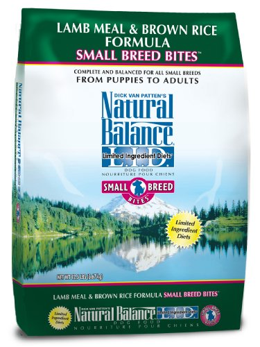 Natural Balance Limited Ingredient Diets, Small Breed Bites Lamb Meal and Brown Rice Formula for Dogs, 12-1/2-Pound Bag by Natural Balance (Image #1)