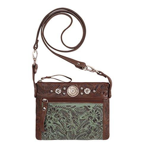 - American West Women's Turquoise Trail Rider Crossbody Purse Turquoise One Size