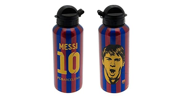 Botella de agua oficial del FC Barcelona MESSI número 10 Imagen cresta alumium: Amazon.es: Deportes y aire libre