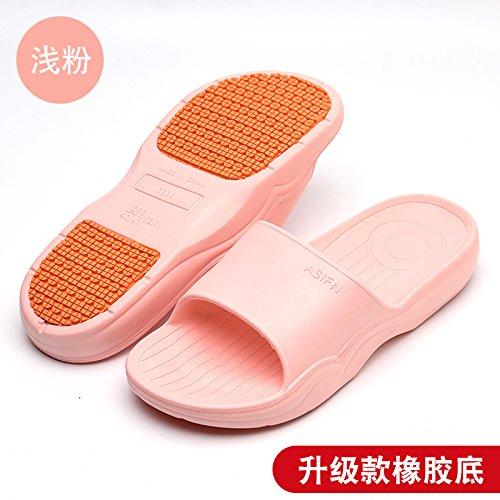 uomini anti DogHaccd coppie bagno indoor di slittamento Home per raffreddare pantofole spessore chiaro3 soft pantofole piano pantofole bagno pantofole Rosa estate casa donne xgRYFAx