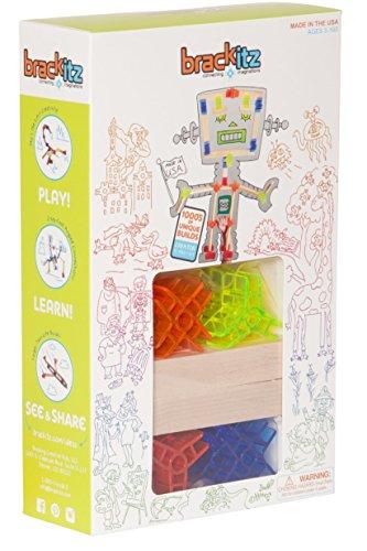 Brackitz Creator: 42 Piece Set - Imagination Set and Wood Building STEM Toy