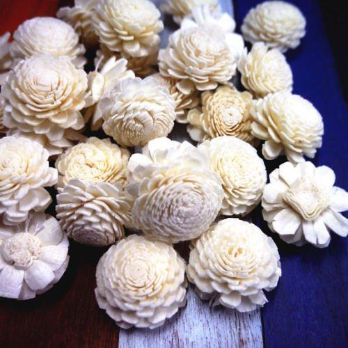 400 Jasmine Balsa Wood Sola Diffuser Flowers 3.5 cm Dia.