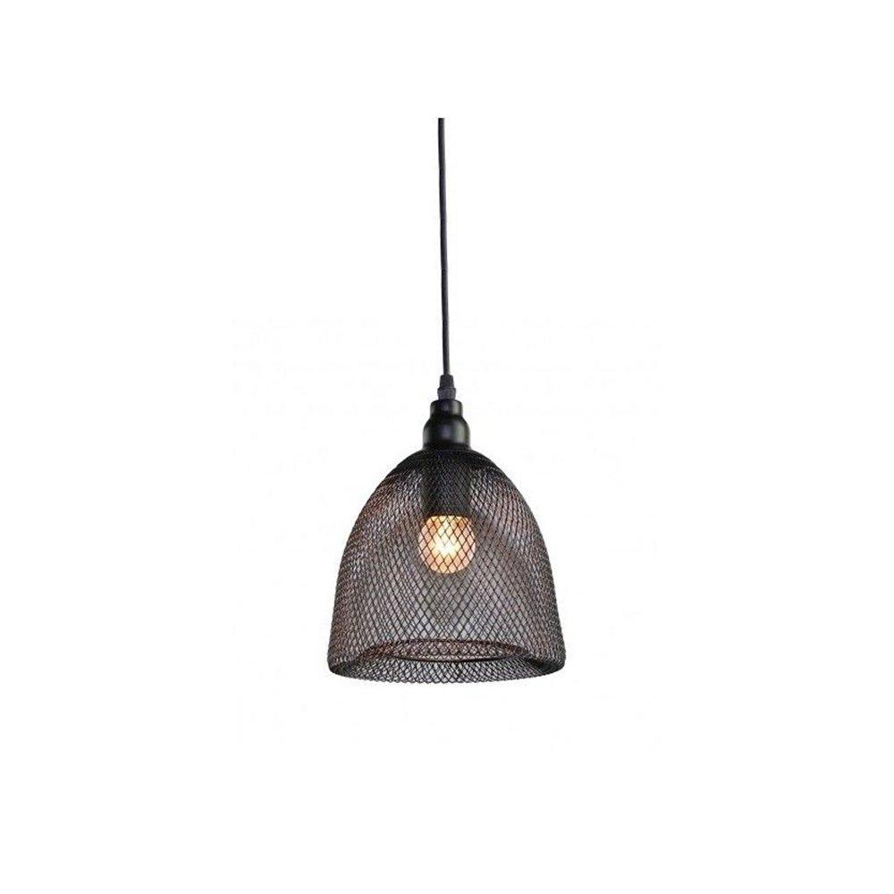Motent Industrial Modern Single Head Black Metal Net Lamp Shade Mesh
