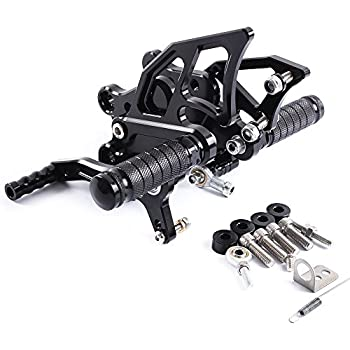 FXCNC Racing Ninja 300 Billet Anodized Adjustable Motorcycle Rearset Foot Pegs Rear Set Footrests Fit For Kawasaki NINJA 300 250 2013-2016,Z300 2015-2018