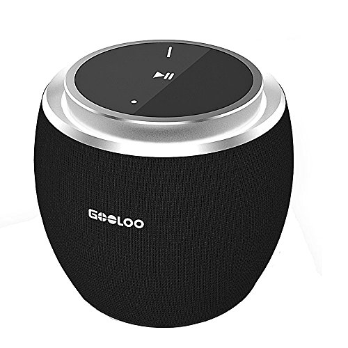 GOOLOO Mini Wireless Speaker, Ultra Portable Bluetooth V4.2 Speakers with Enhanced Bass, Built-in Mic , Hands Free Calls, Louder Volume – Black