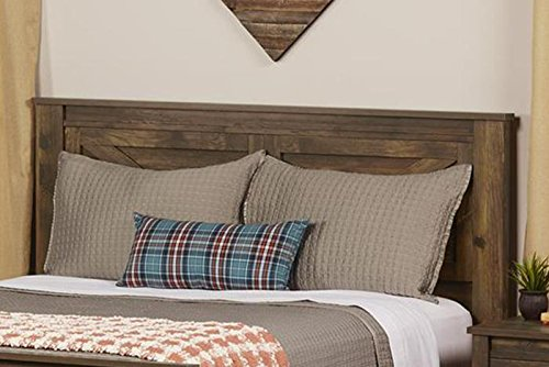 Bedroom Ameriwood Home Farmington, Queen Headboard, Rustic,5749215COM farmhouse headboards