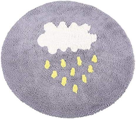 LUYIASI Alfombra Circular de algodón Alfombra de Pelo Dormitorio Alfombrillas de Arrastre para niños Alfombra de Ordenador Alfombra Redonda Hamaca (Color : Gray, Tamaño : 90 * 90cm): Amazon.es: Hogar