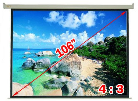 Antra Electric Motorized 106 4:3 Projector Projection Screen Matte White PSA-106B