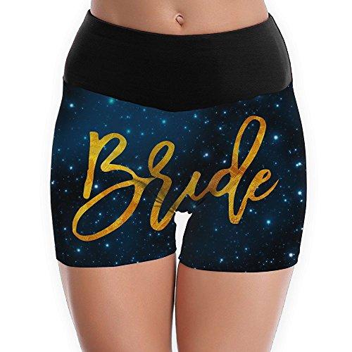9e98ba7524 Bride Gold Yoga Shorts For Women Tummy Control Workout Running Shorts Pants  Yoga Short