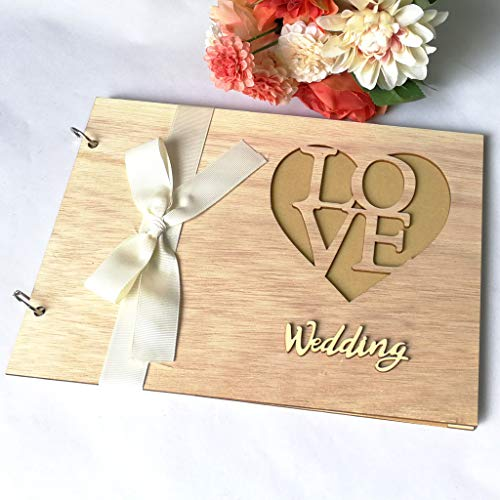 Yu2d  1Pcs Guest Book Memorable Simple Message Board Sign Book Gift for Wedding Party(Yellow B) -