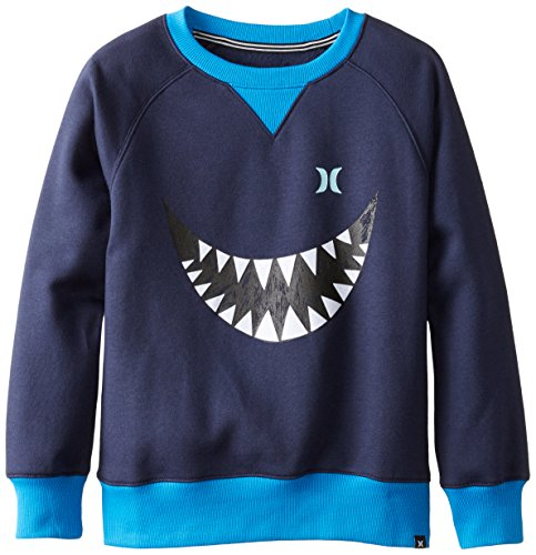 Hurley Big Boys' Shark Bait Crew, Obsidian, Large