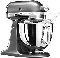 KitchenAid 5KSM175PSECU - Robot de cocina (4, 8 L, Negro, Ónice, palanca, 58 RPM, Amasar, Mezcla, Remover, AC): Amazon.es