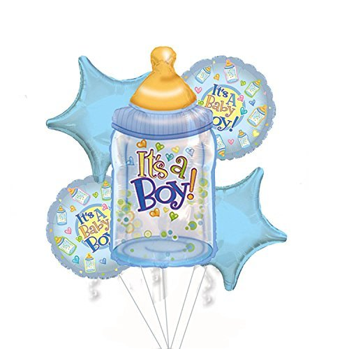 Baby Boy Bouquet of Balloons (5 Per Package) Pkg/1