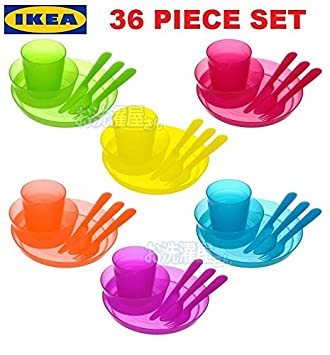IKEA KALAS Baby Kids Plastic Cups Plates Bowls Cutlery Mugs set Childrenu0027s Party  sc 1 st  Amazon.com : plastic cups and plates - pezcame.com
